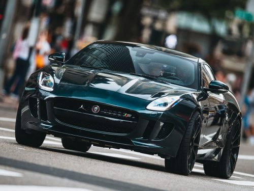 Jaguar F-type форсаж 8